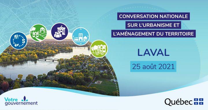 Conversation nationale sur l'urbanisme et l'aménagement des territoires