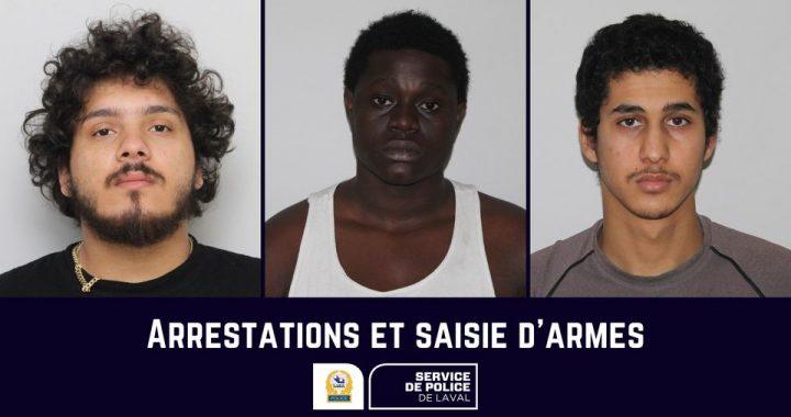 Événements de violence à Laval : arrestations et saisie d'armes